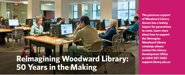 Students in Woodward library